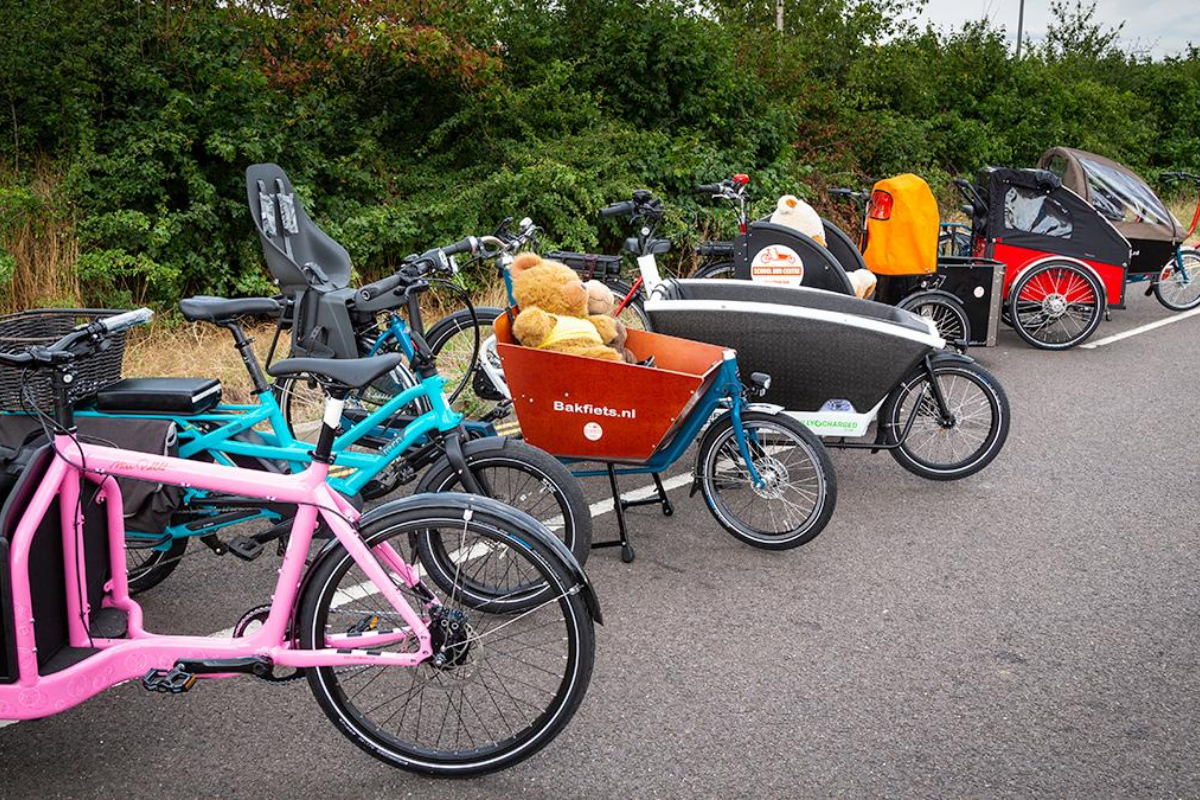 selection of cargo bikes