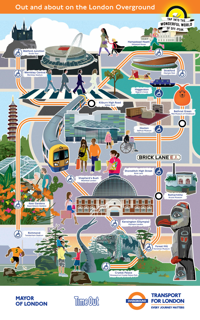 London Overground Cultural Tube Map