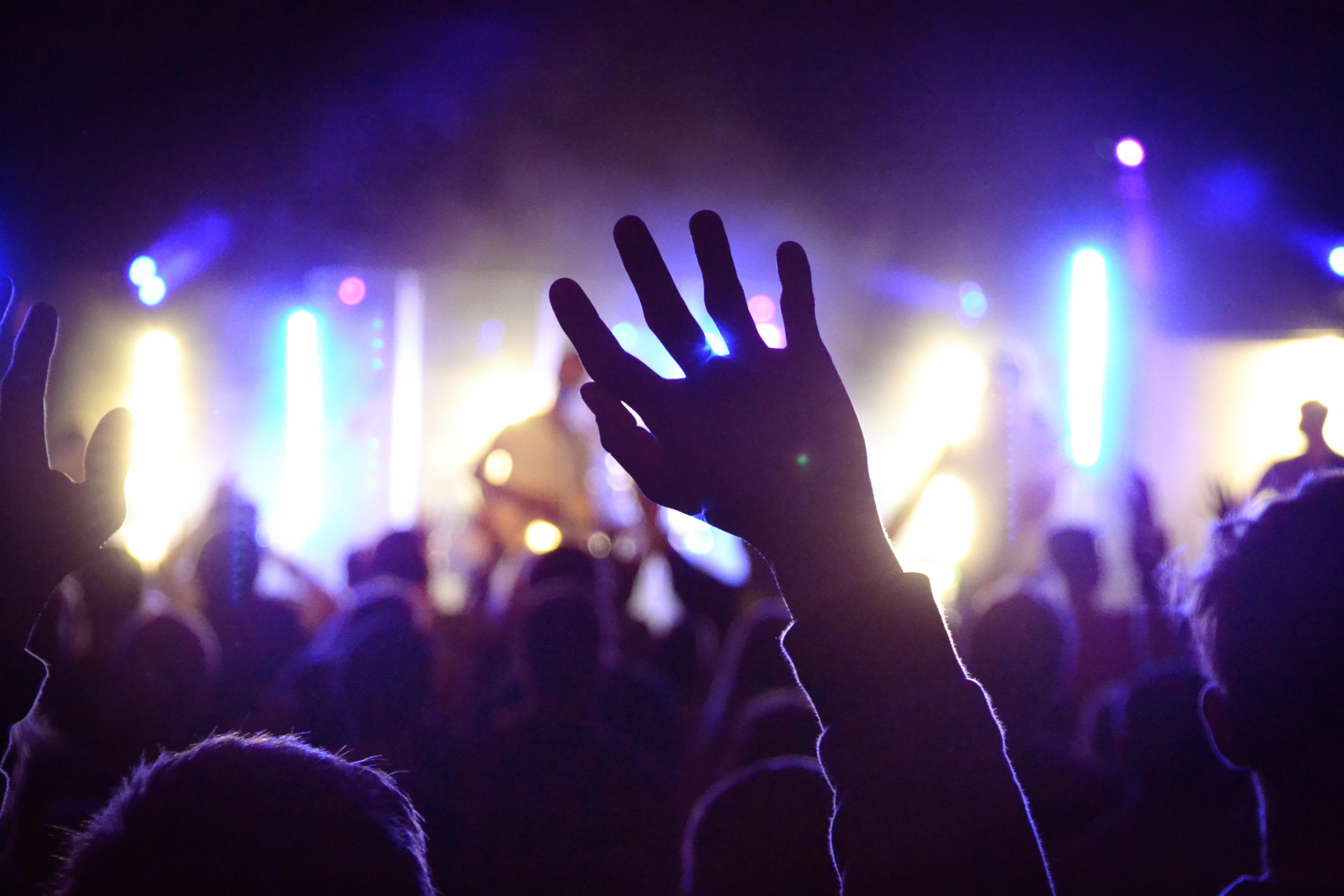 London festival goers enjoy music