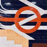 Decorative London Underground Tube station tiles