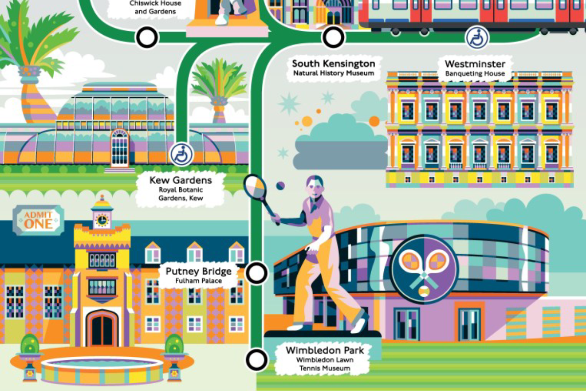 District line Cultural Tube Map