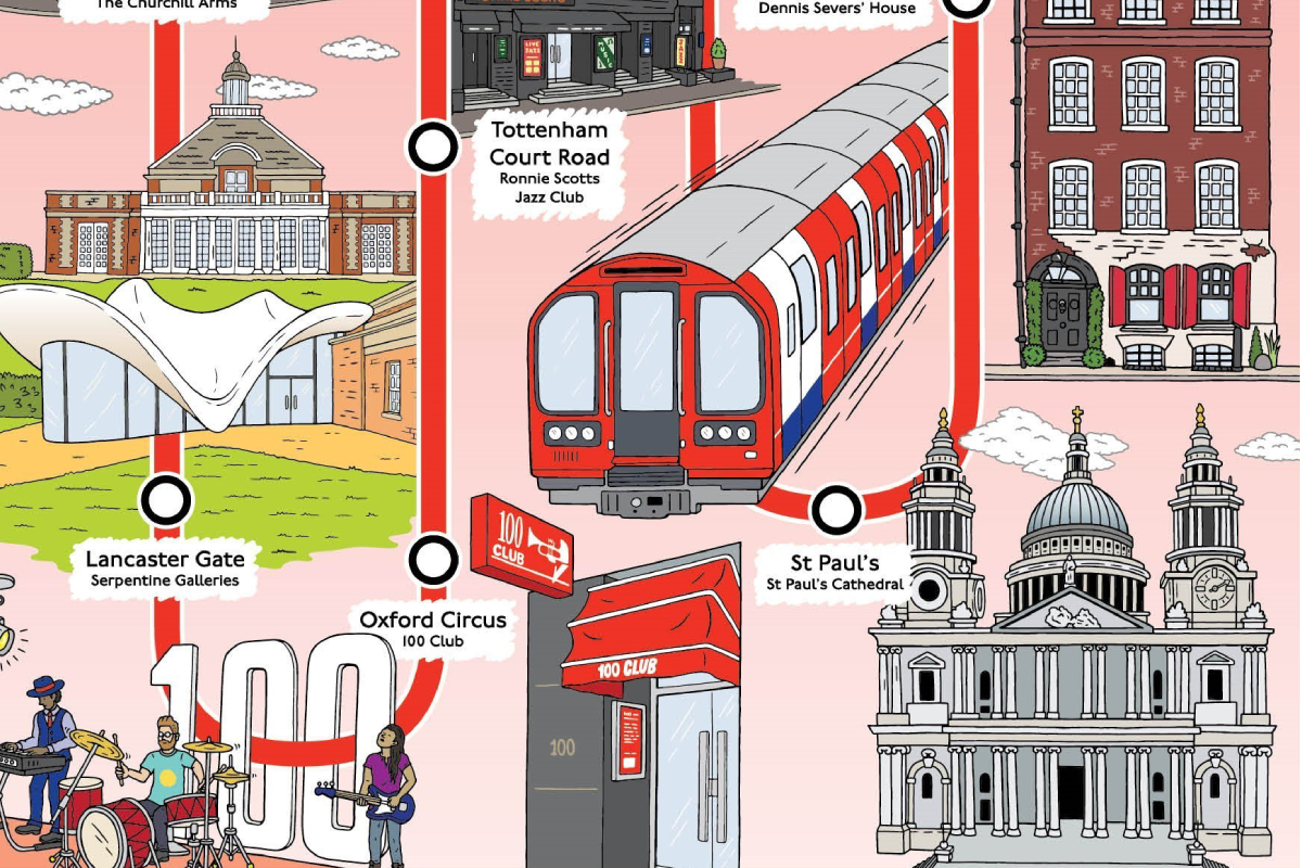 Central line Cultural Tube Map
