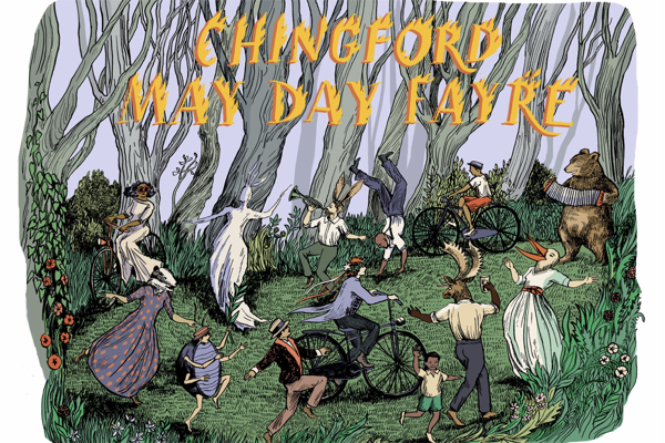 Chingford May Day Fayre graphic as part of London Borough of Culture