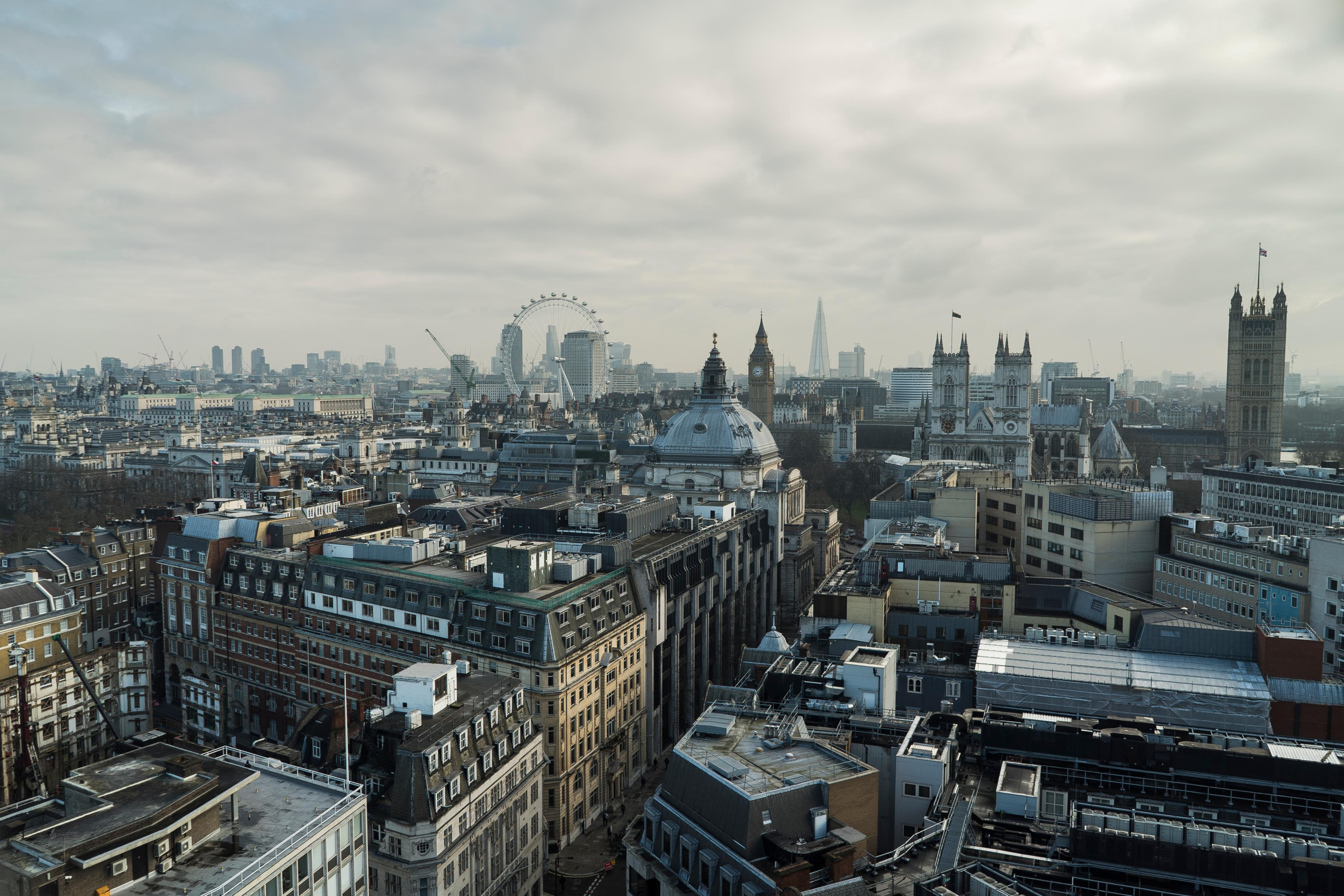 The view from the top of 55 Broadway, TfL's headquarters