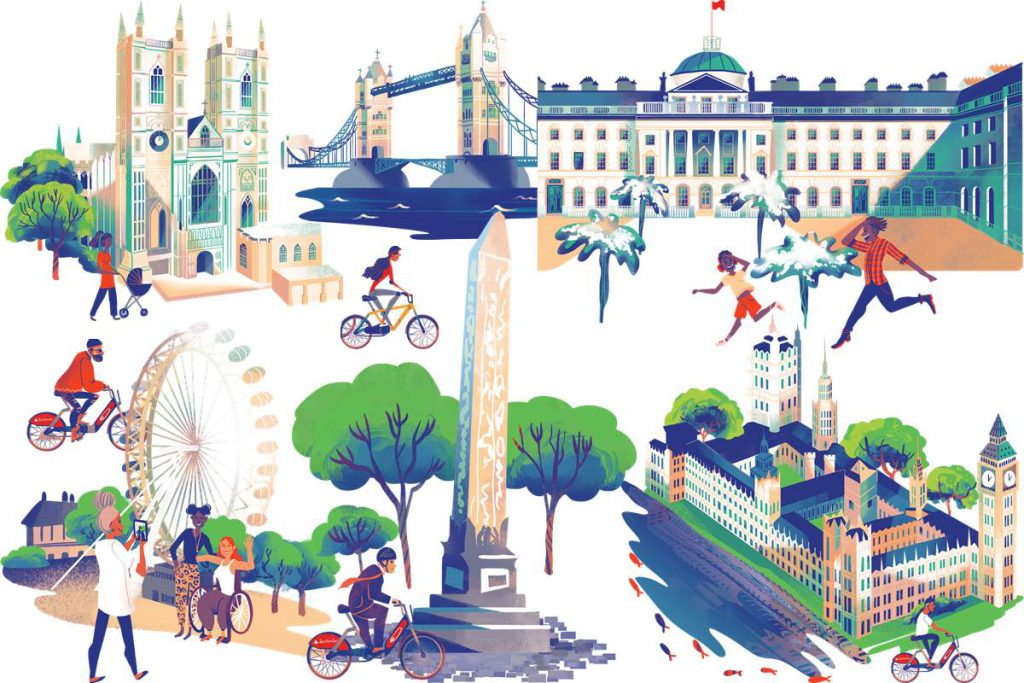 Cycle the Sights Santander Cycles Thames loop