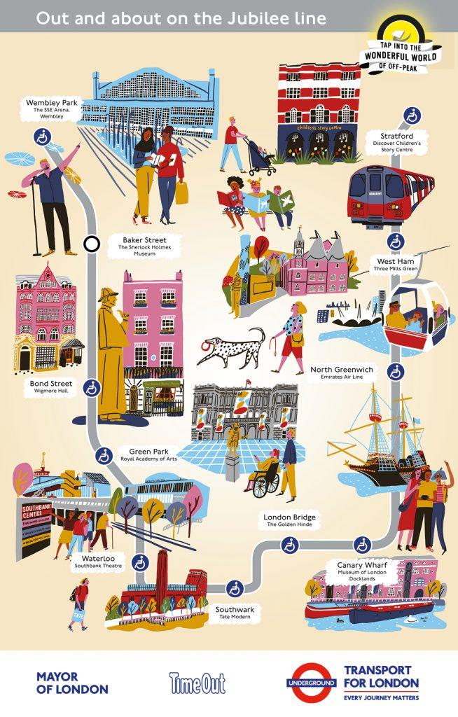 Jubilee line Cultural Tube map