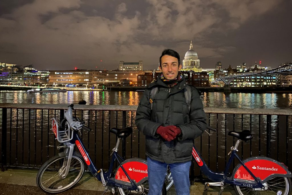 Photo of Sakhr, our January cycle hire hero