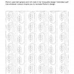 Line art of Colindale Leaf moquette design