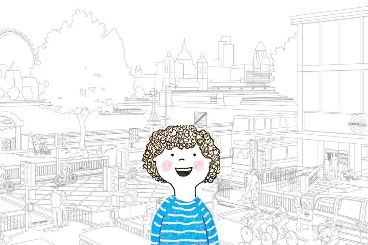 Illustration of London scene