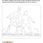 Colouring activity football scene