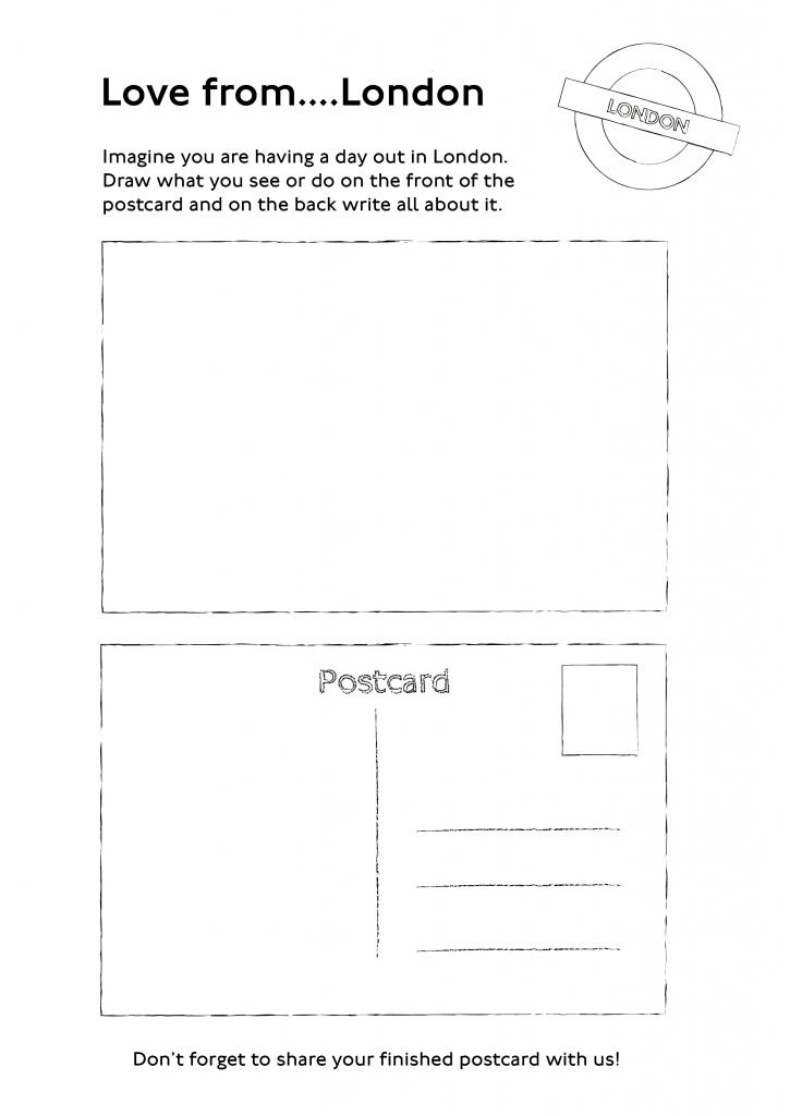 Blank postcard design
