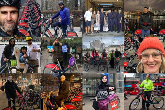 Our cycle hire heroes on their cycles