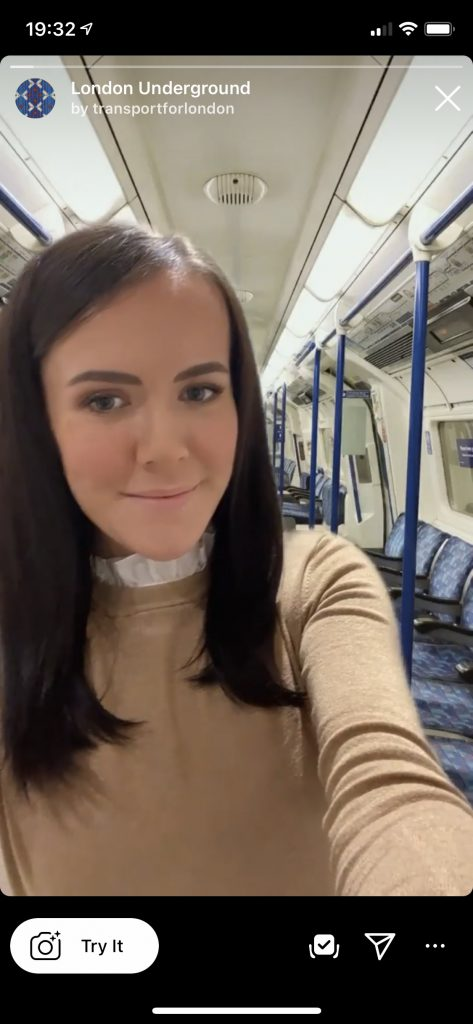 London Underground AR filter demo