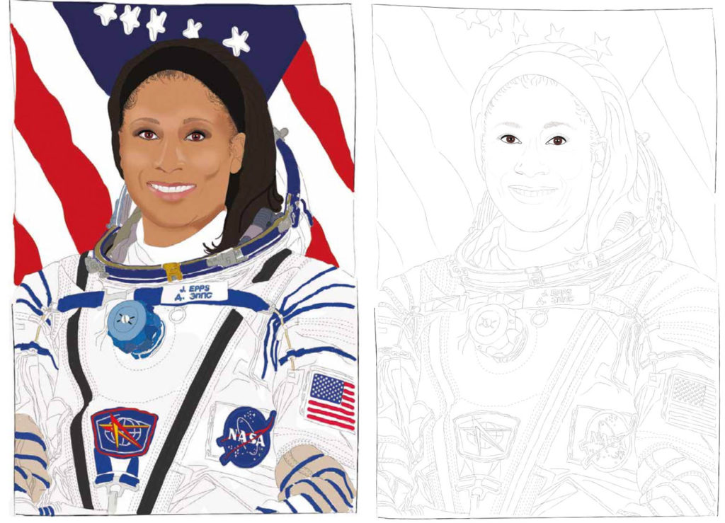 Image of Jeanette Epps next to an outline image of Jeanette Epps
