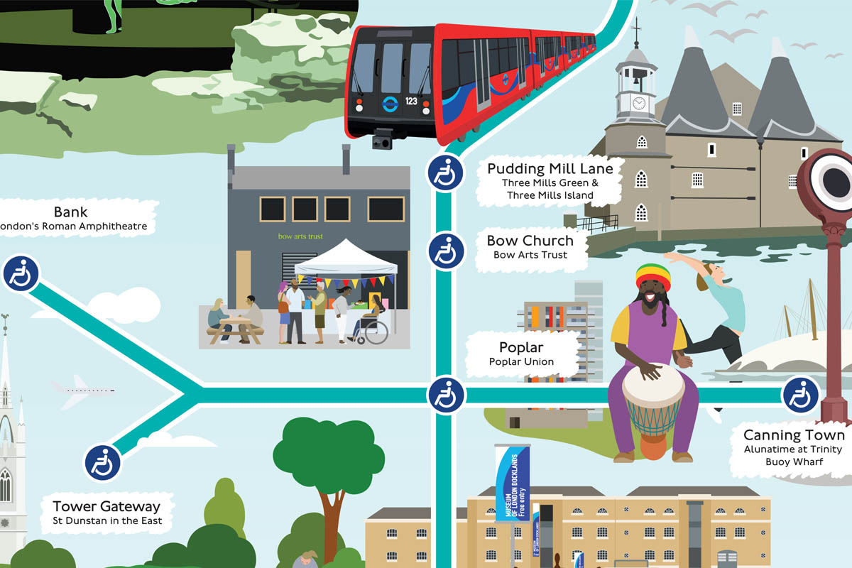 DLR map showing attractions