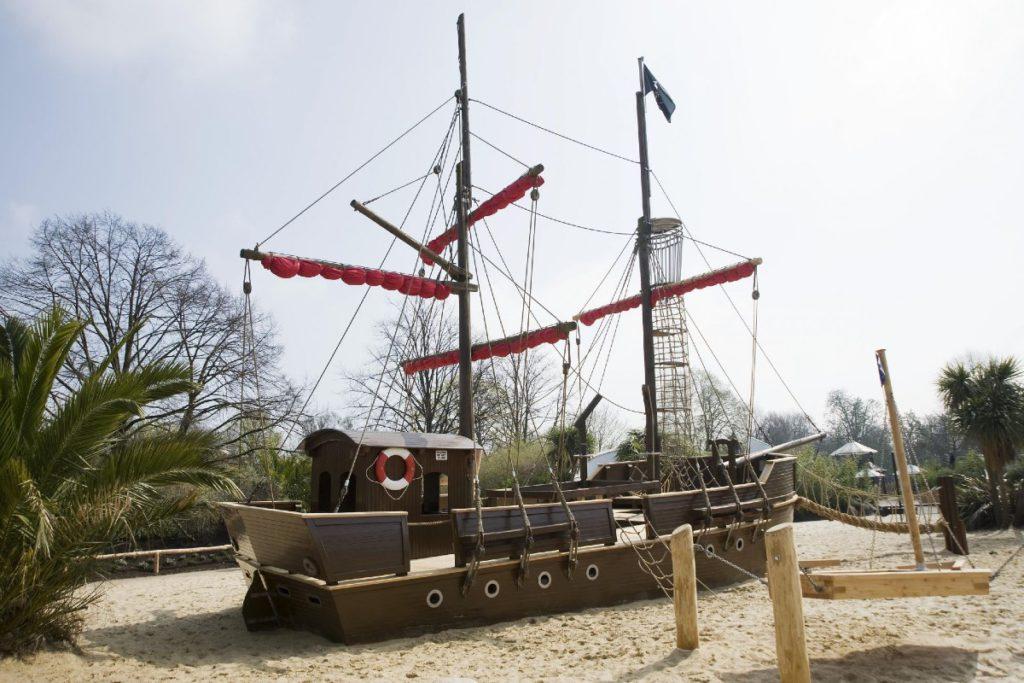 Pirate ship climbing frame in Diana Memorial Playground