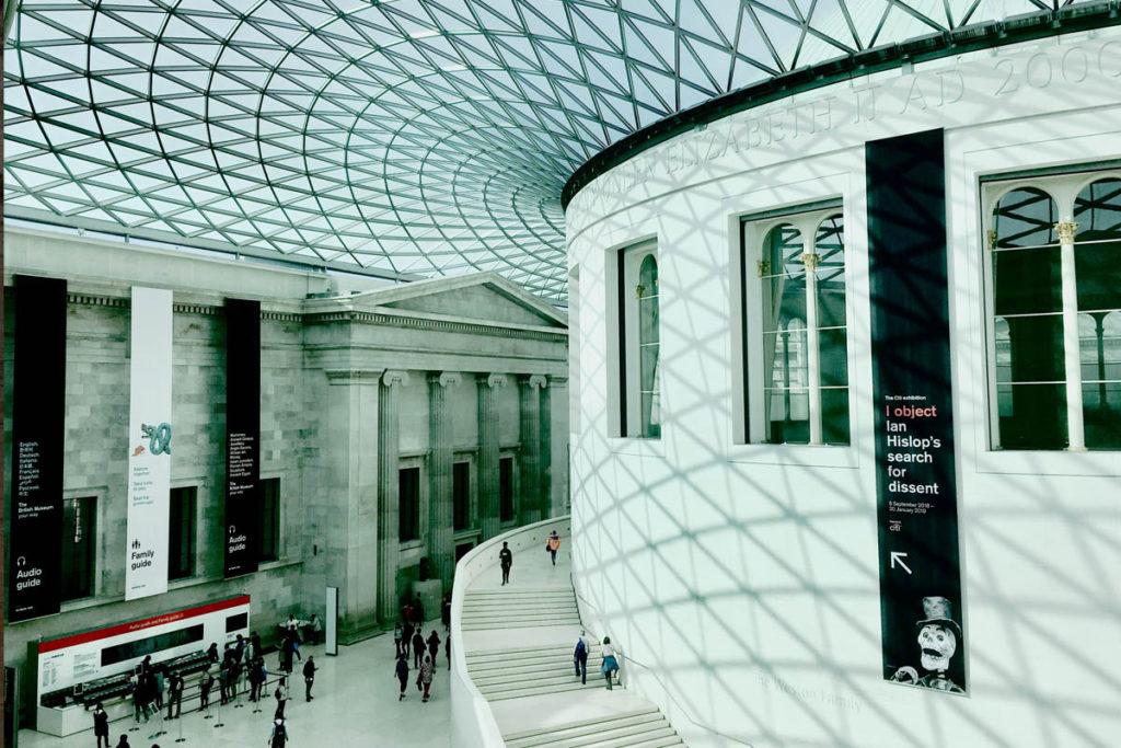 Main hall of the British Museum