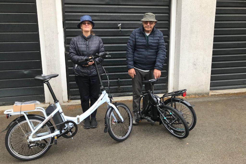 Giorgio and Ann with their e-bikes