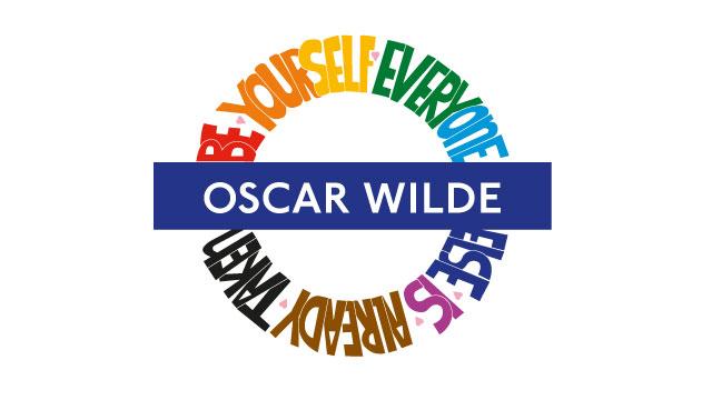 Oscar Wilde pride roundel.