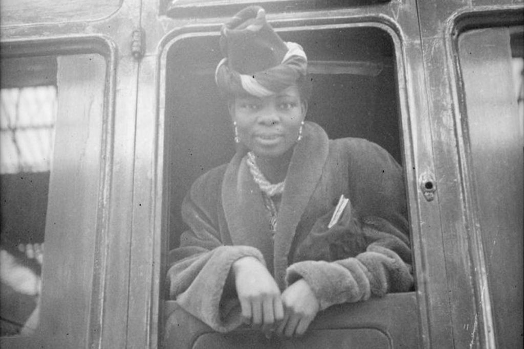 Black and white photo of Princess Ademola.